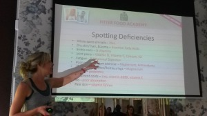 Keris Marsden talking about vitamin deficiencies at the Fitter Food Academy