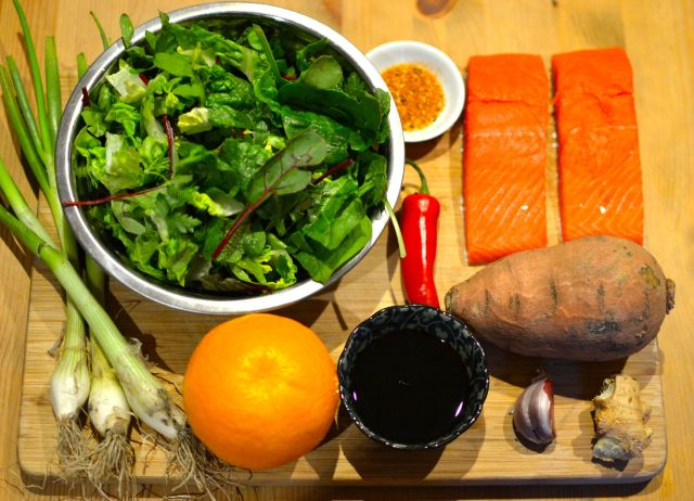 Ingredients for Salmon Kicap
