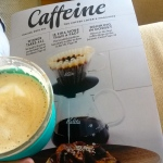 Coffee and a magazine about coffee. Heaven.