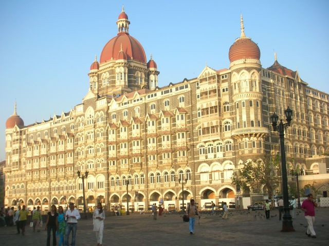 The Taj Mahal Palace Hotel, Mumbai. This had been attacked by terrorists five months before our visit.