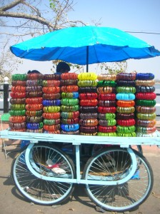 Colourful bangles by the cartload