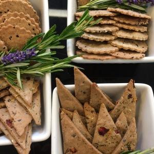 Gluten-free Crackers: Buckwheat Floral Crackers and Hazelnut Nigella Crackers